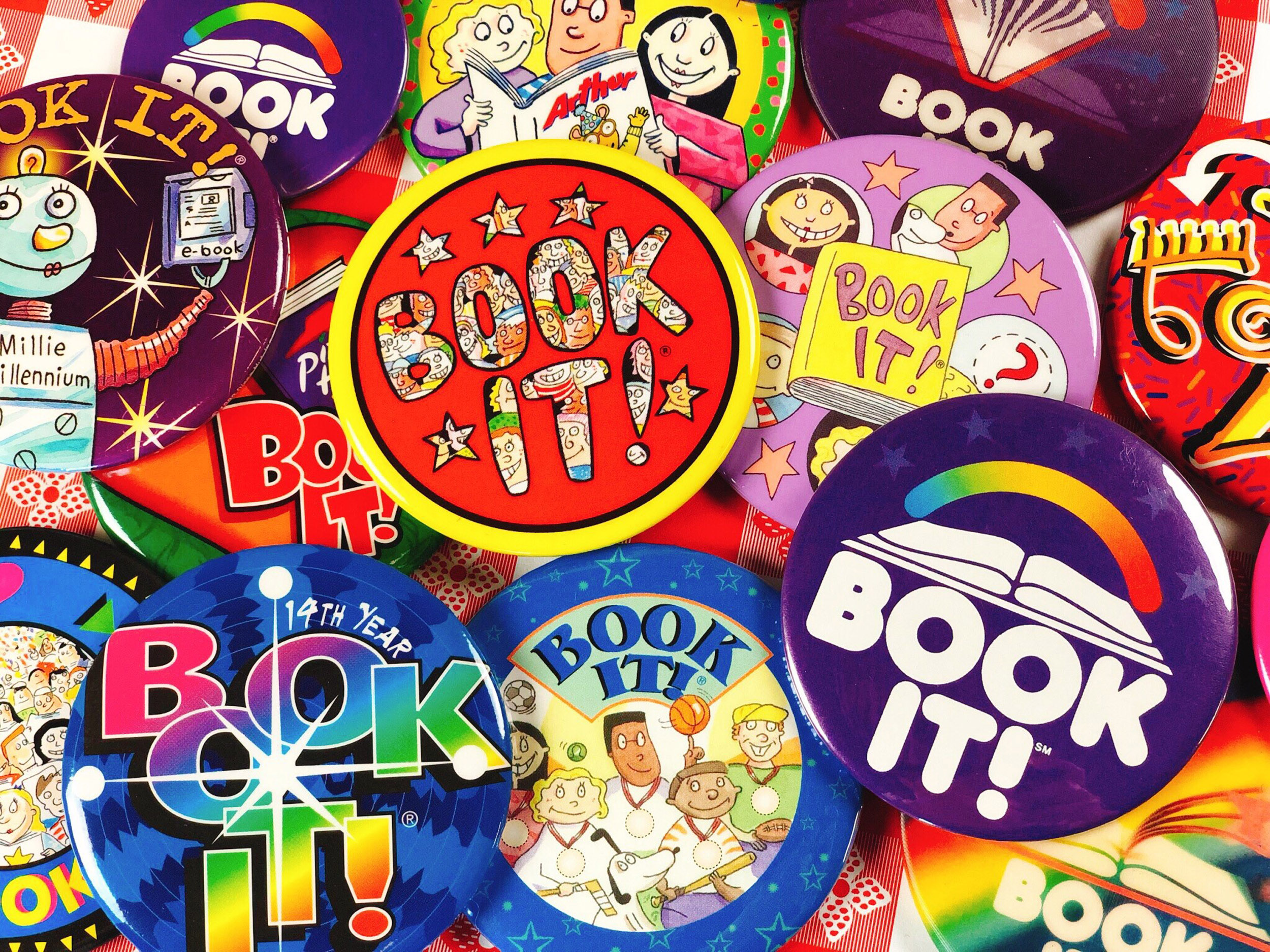BOOK IT! Buttons